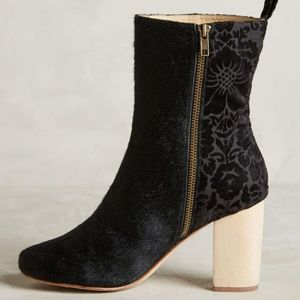 NEW Anthro x FarylRobin Dav calf hair boots black